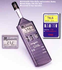 记忆式温湿度表TES-1361