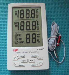 大屏幕数显温湿度计KT905